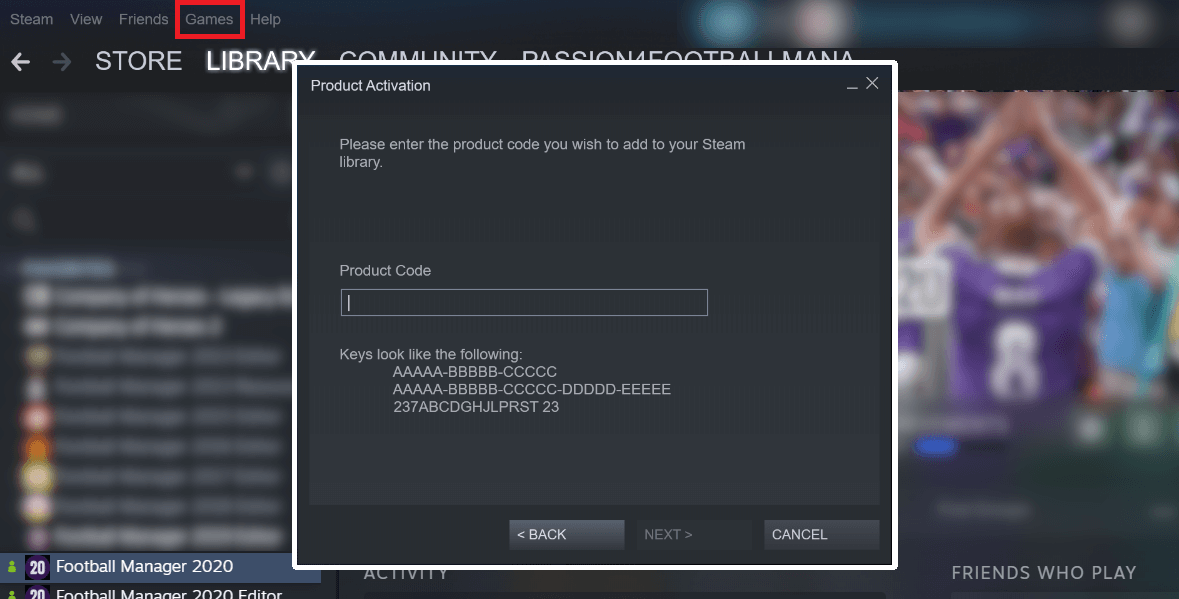 How to activate steam key
