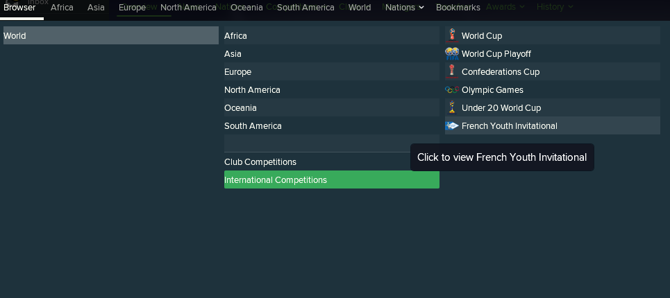 Browser option in FM18