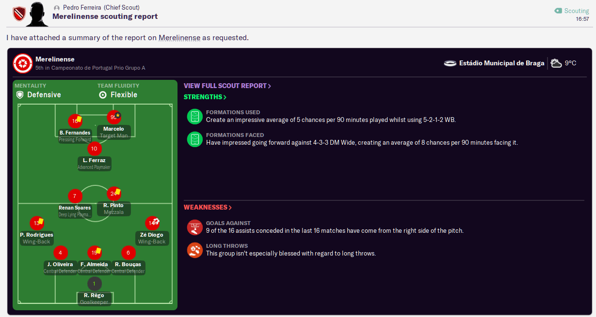 Next opposition scout report