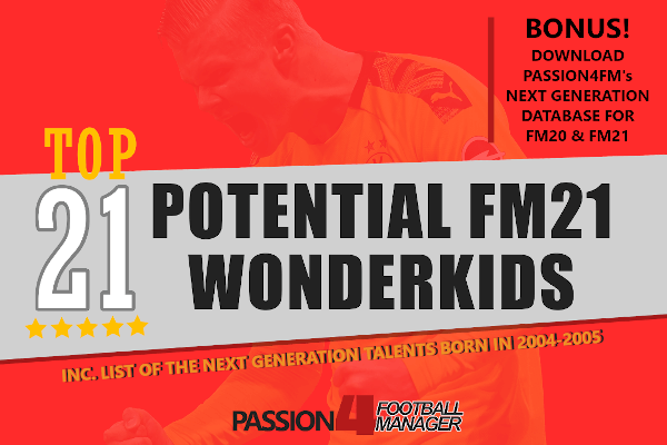 Potential Football Manager 2021 Wonderkids & Next Generation talents