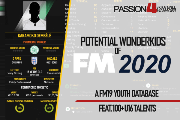 Football Manager 2020 Best Players Potential Wonderkids | Football Manager 2020 • Passion4FM
