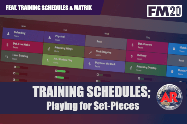 training schedules playing for set-pieces